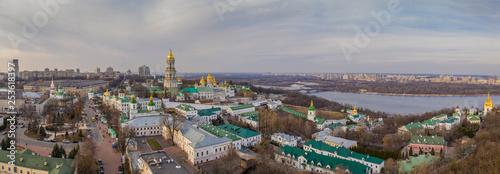 Staande foto Kiev Aerial view of Kiev Pechersk Lavra at sunset