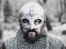 Warrior With Viking Helmet