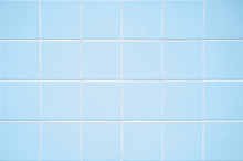 Pastel Blue Tiled Wall Background With Square Tiles