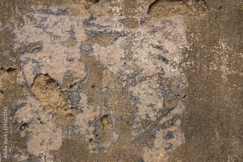 Deurstickers Oude vuile getextureerde muur Rough, old, crumbling wall background texture