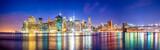 Fototapeta New York - Skyline Panorama von Manhattan mit Brooklyn Bridge, New York City, USA