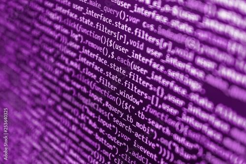 Programming source code HTML for Website development