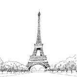Fototapeta Fototapety z wieżą Eiffla - The Eiffel Tower vector