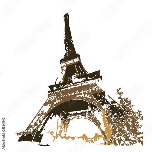 Photo  The Eiffel Tower vector
