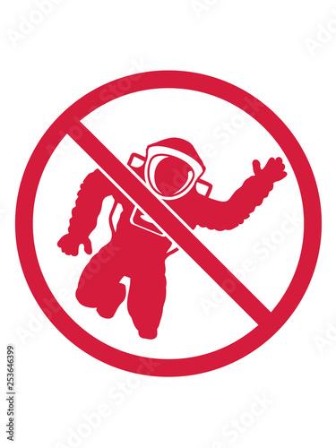 Fotografía  verboten alien kein astronaut schild zone weltall kosmonaut raumfahrer raumschif
