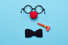 Funny Glasses, Red Clown Nose ...