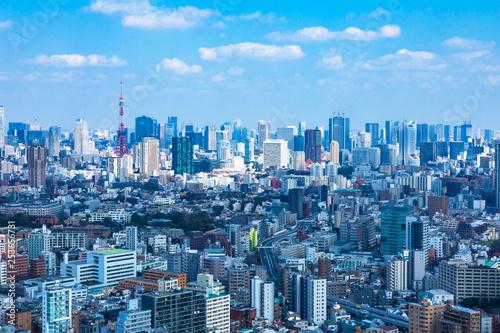 Foto op Canvas Pool (東京都-都市風景)展望ラウンジから望む芝方面の風景1