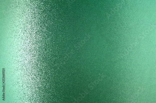 Fotografía  Glowing green metallic wall, abstract texture background