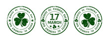 Green Round Stamp For St. Patr...