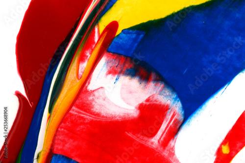 Fotografie, Obraz  Bright acrylic paint