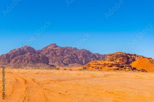 Tuinposter Landscape of Wadi Rum desert in Jordan