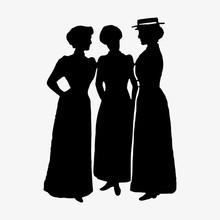Three Ladies Vintage Silhouettes