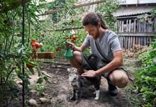 Farmer In The Garden