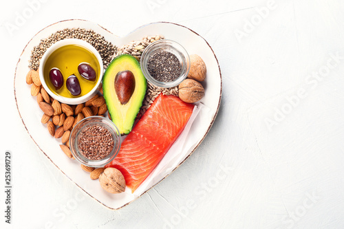 Obraz Selection of healthy fat sources - fototapety do salonu