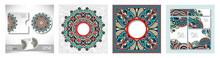Decorative Label Card For Vintage Design, Ethnic Pattern, Antique Greeting Card