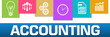 Accounting Business Symbols Colorful On Top Horizontal