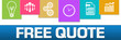 Free Quote Business Symbols Colorful On Top Horizontal