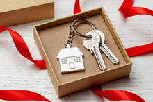 Keychain House And Keys With R...