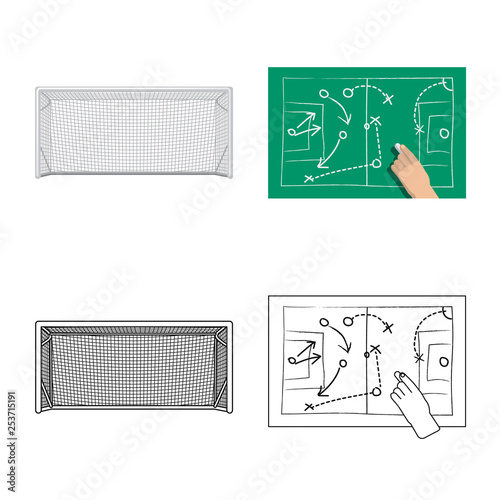 Fotografia, Obraz  Vector design of soccer and gear sign
