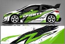 Sport Car Racing Wrap Design. ...