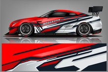 Sport Car Racing Wrap Design. ...