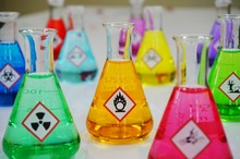 Many Of Erlenmeyer Flask With ...