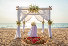 Romantic Wedding Setting With ...