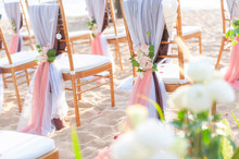 Romantic Wedding Setting With On The Beach