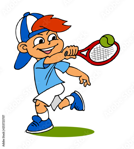 Boy Playing Tennis Children Sports Color Clipart Buy This Stock Vector And Explore Similar Vectors At Adobe Stock Adobe Stock
