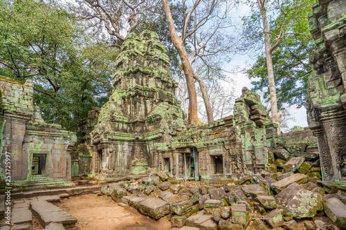 Photo  Ruins of Ta Prohm temple, Cambodia