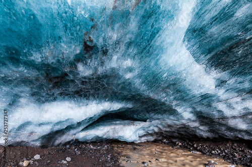 Poster Mer / Ocean Ice cave, Skaftafell National Park, Southern Iceland, Iceland, Europe