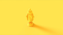 Yellow Virgin Mary Mother Of Jesus Statue 3d Illustration 3d Render