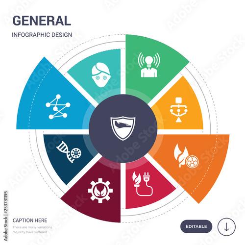 set of 9 simple general vector icons Wallpaper Mural