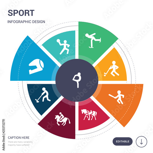 set of 9 simple sport vector icons Wallpaper Mural