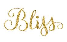 BLISS Gold Glitter Hand Lettering Banner
