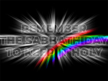 Remember The Sabbath Day To Keep It Holy - Bible  Motivation Quote Poster