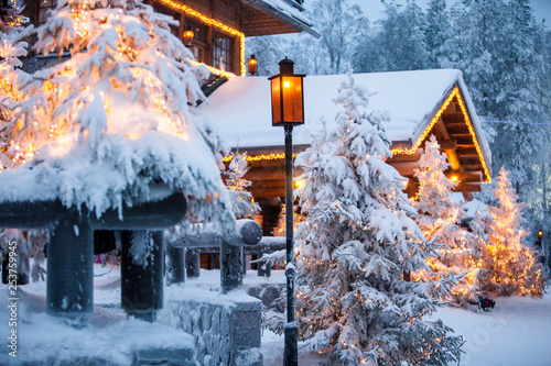 Santa claus village lapland finland Fototapeta