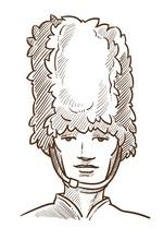 British Royal Guard Isolated Sketch Portrait UK Symbol