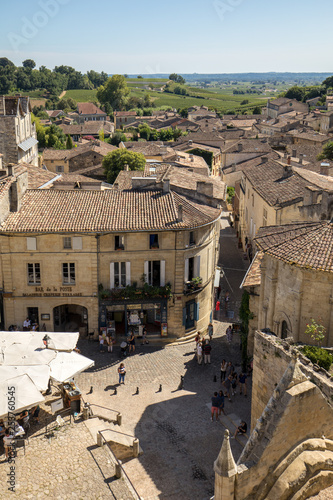 Photo Place de lEglise Monolithe in St Emilion; Gironde Department; France