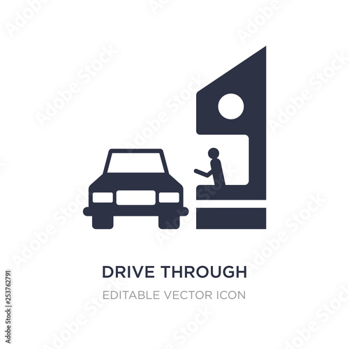 Fényképezés drive through icon on white background