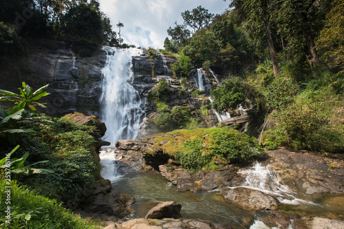 waterfall in deep forest at Chiang Mai Thailand