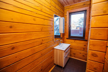 Sink In A Wooden House