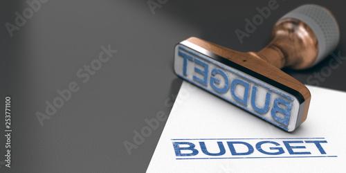Cuadros en Lienzo Budget prévisionnel, budgéter un projet ou des travaux.