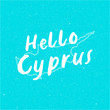 Vector Hello Cyprus Text Design illustration turquoise