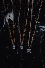 Rose Gold Necklace, Fashion Concept. Women Accessoires