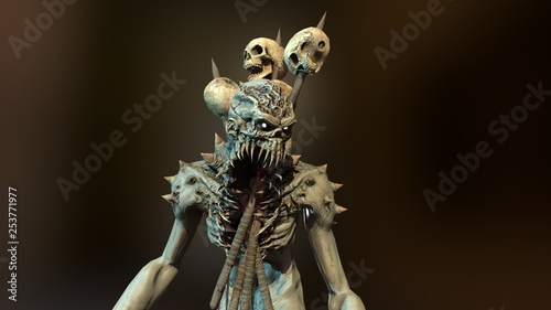 Fotografia Nuclear post-apocalypse mutant 3d render