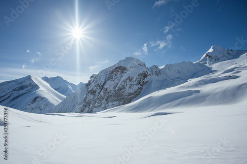 Skiing paradise in the austrian alps