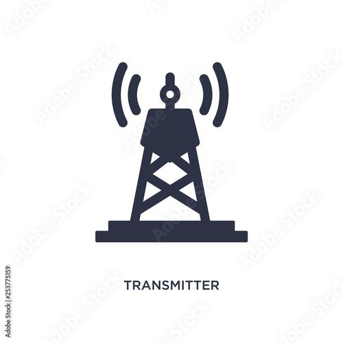 Billede på lærred transmitter icon on white background