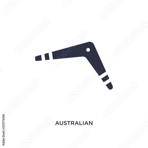australian boomerang icon on white background Canvas Print