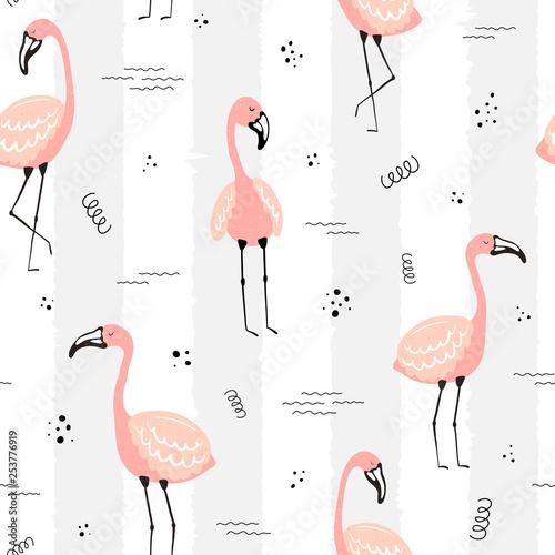 bezszwowe-tropikalny-wzor-w-paski-z-flamingow-kropek-i-fal-wektorowa-lato-ilustracja-flaming-dla-dzieci-tkaniny-tlo-pepiniera-urodziny